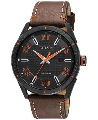 Citizen Drive from Citizen Eco-Drive Men's Brown Leather Strap Watch 42mm BM6995-19E