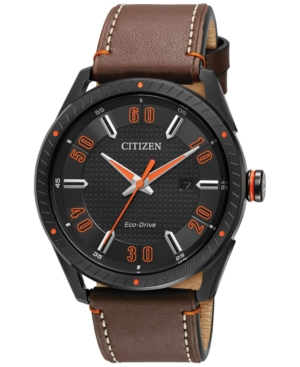 Citizen Drive from Citizen Eco-Drive Men's Brown Leather Str