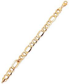 Men's Figaro Link Bracelet in 10k Gold