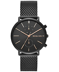 michael kors mens watches macy s michael kors men s chronograph jaryn black ion plated stainless steel mesh bracelet watch 42mm mk8504