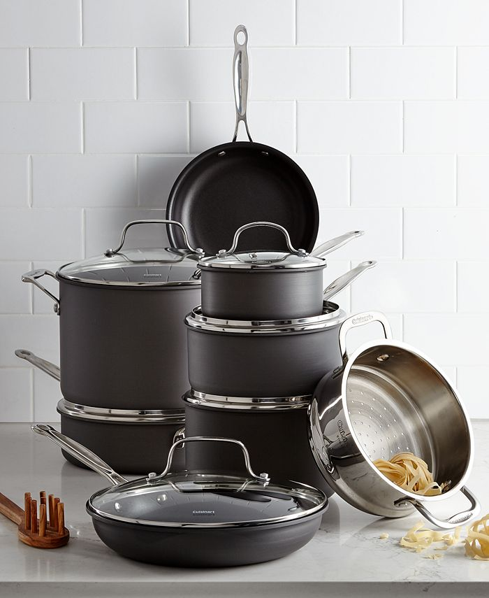 Cuisinart - Chef's Hard-Anodized 14-Pc. Cookware Set