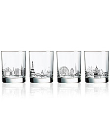Luminarc Skylines 4-Pc. Double Old Fashioned Glass Set