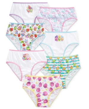 Shopkins Underwear 7Pack Little Girls  Big Girls