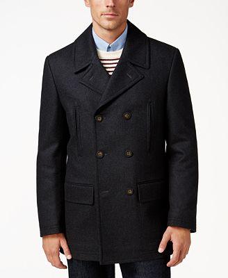Lauren Ralph Lauren Luke Solid Wool-Blend Peacoat - Coats ...