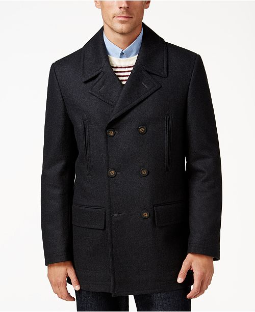a6d6227a33b89 Lauren Ralph Lauren Luke Solid Wool-Blend Peacoat   Reviews - Coats ...