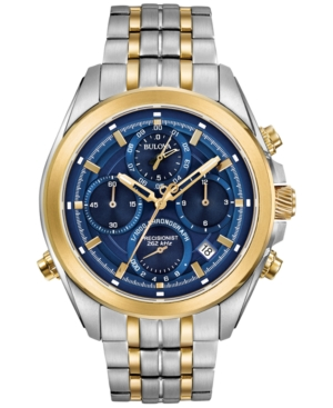 Bulova Men's Chronograph Precisionist Two-Tone Stainless Ste