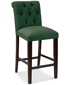 Darah Tufted Rollback Bar Stool, Quick Ship