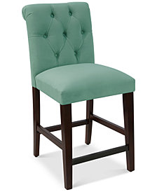 Darah Tufted Rollback Counter Stool, Quick Ship