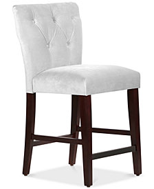 Jolinda Tufted Hourglass Counter Stool, Quick Ship