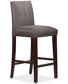 Mirrell Tapered Bar Stool with Buttons, Quick Ship