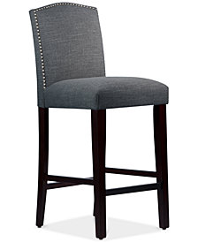 Callon Nail Button Arched Bar Stool, Quick Ship