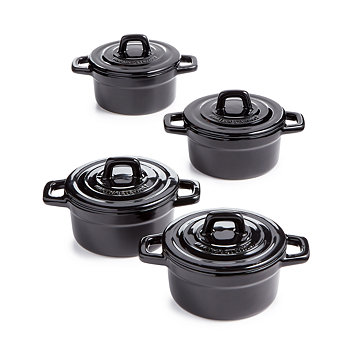 Martha Stewart Collection 4-Pc. Heirloom Ceramic Cocotte Set