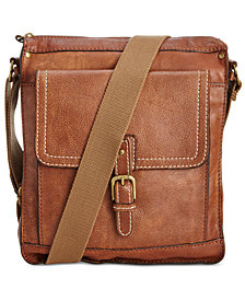 Nash Men's Tuscan Leather North South Crossbody