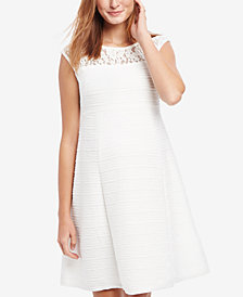 Taylor Maternity Lace-Trim Dress