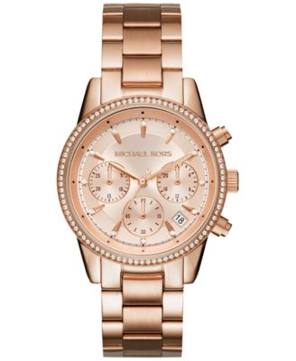 Image of Michael Kors Women's Chronograph Ritz Stainless Steel Bracelet Watch 37mm MK6428/MK6357/MK6356