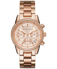 Michael Kors Women's Chronograph Ritz Stainless Steel Bracelet Watch 37mm MK6428/MK6357/MK6356