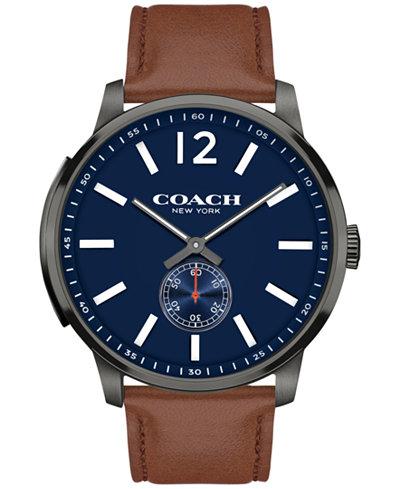 COACH Women's Bleecker Brown Leather Strap Watch 46MM 14602083
