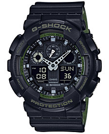 G-Shock Men's Analog-Digital Black Resin Strap Watch 51x55mm GA100L-1A
