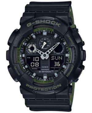 G-Shock Men's Analog-Digital Black Resin Strap Watch 51x55mm