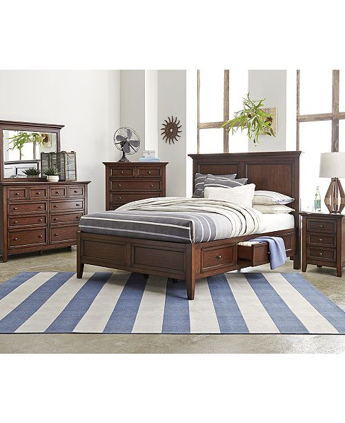 Furniture Matteo Storage Platform Bedroom 3 Piece Bedroom Set ...