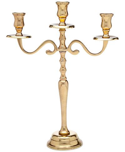 Godinger Lighting by Design Medium Metal Candelabra, Gold