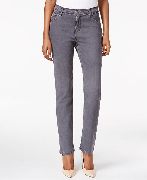 5fea1819 Lee Platinum Gwen Straight-Leg Jeans, Created for Macy's & Reviews ...