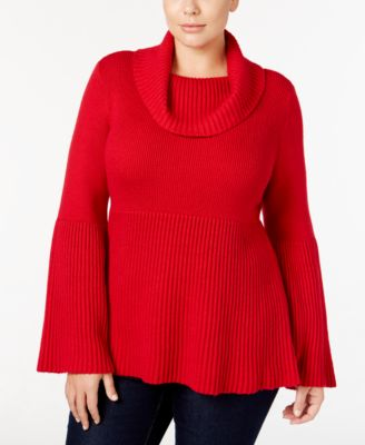 Style & Co. Plus Size Cowl-Neck Bell-Sleeve Sweater, Only at Macy's