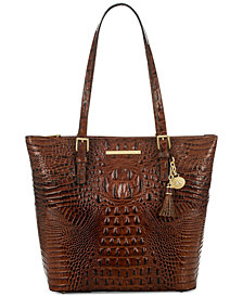 Brahmin Melbourne Asher Embossed Leather Tote