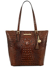 Brahmin Asher Melbourne Embossed Leather Tote
