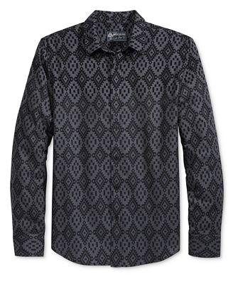 American Rag Men's Fair Isle Flannel Shirt, Created for Macy's ...
