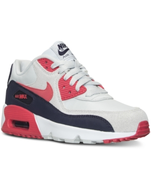 db7a25d9497c UPC 091207448627 product image for Nike Girls  Air Max 90 Leather Running  Sneakers from Finish