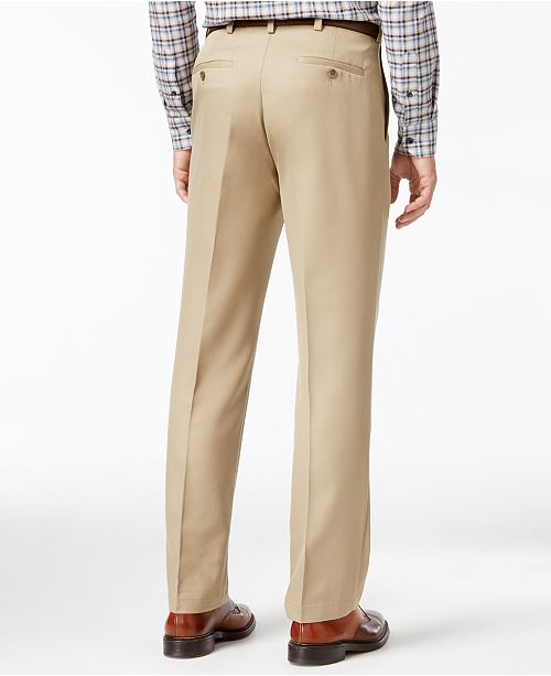 9fe68f21b40 Haggar Microfiber Performance Classic-Fit Dress Pants