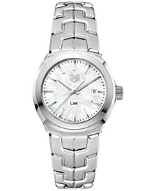 TAG Heuer Women's Swiss LINK Stainless Steel Bracelet Watch 32mm WBC1310.BA0600