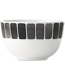 New! Martha Stewart Collection Heirloom Black Cereal Bowl, Created for Macy's