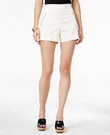Thalia Sodi Zipper-Detail Shorts, Created for Macy's