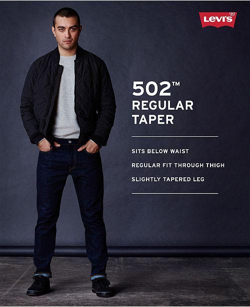 88a2f548e7b Levi's Men's 502™ Taper Soft Twill Jeans & Reviews - Jeans - Men ...