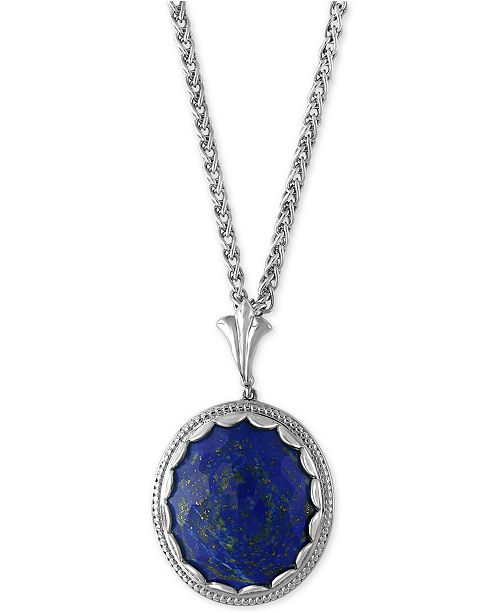 EFFY Collection EFFY® Lapis Lazuli Pendant Necklace (19-3/4 ct. t.w.) in Sterling Silver
