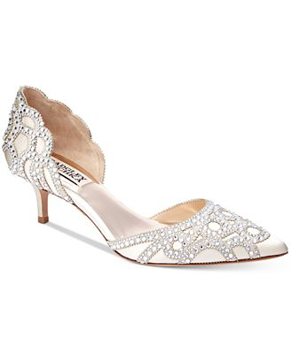 Badgley Mischka Ginny D'Orsay Kitten Heels Women's Shoes