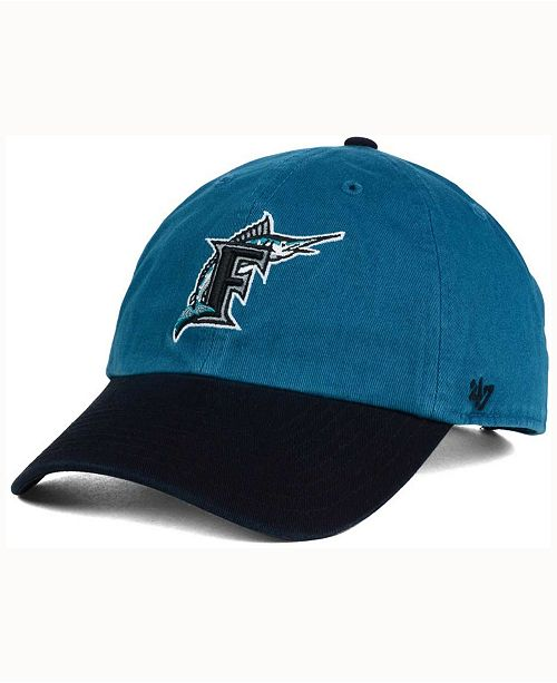 '47 Brand Florida Marlins Cooperstown CLEAN UP Cap