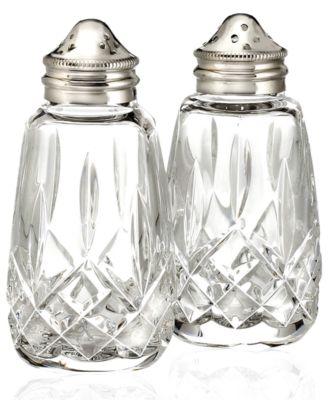 Serveware, Lismore Salt & Pepper Shakers