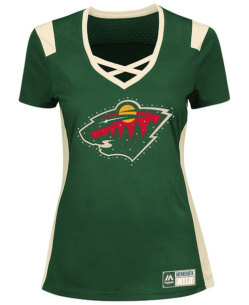 Majestic Women s Minnesota Wild Draft Me T-Shirt - Sports Fan Shop ... 048966f26b