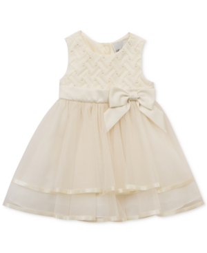 Rare Editions Embellished Basket Weave  Mesh Dress Baby Girls (024 months)