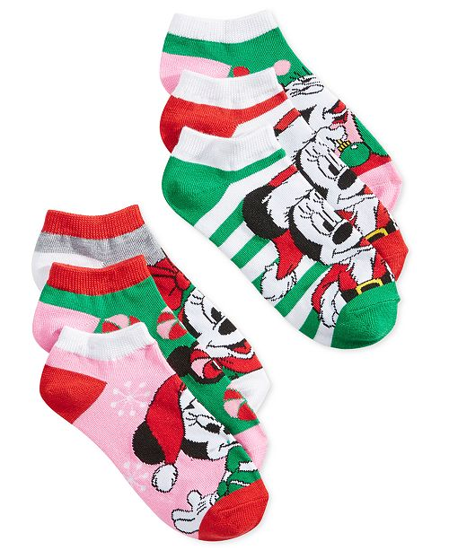 Disney Women's 6-Pk. Holiday Mickey & Minnie Socks