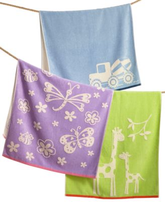100% Cotton Velour Zoo Fingertip Towel