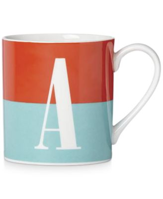 Image of kate spade new york Whats In A Name Initial Monogram Mug