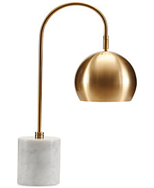 Madison Park Signature Halsey Marble & Brass Table Lamp