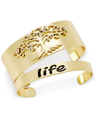 Image of Inspired Life 2-Pc. Set Tree of Life Cuff Bracelets