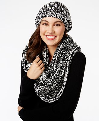 Charter Club Velvety Chenille Beret and Infinity Scarf, Created for Macy's