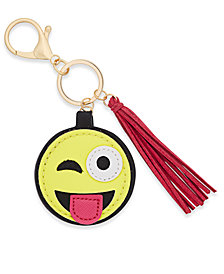 Inspired Life Silly Face Emoji and Tassel Keychain