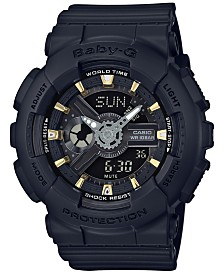 Baby-G Women's Analog-Digital Black Resin Strap Watch 43x46mm BA110GA-1A